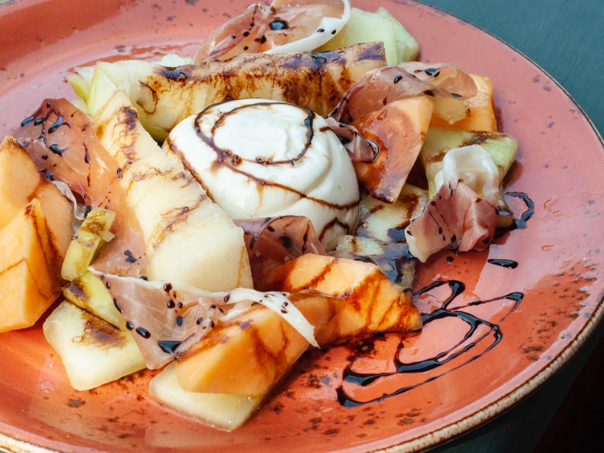 Night Heron summer melon and burrata salad