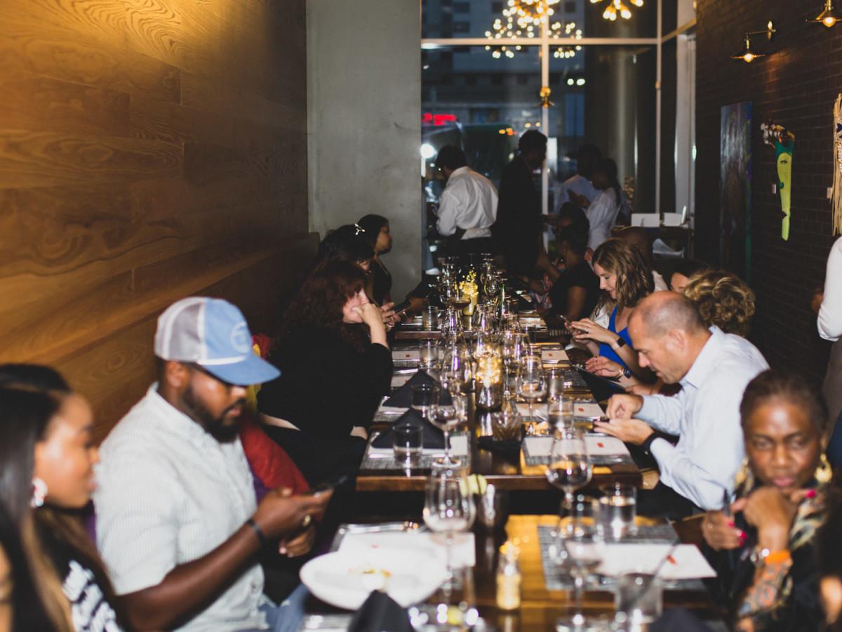 Food Apartheid Dinner Series dinner crowd