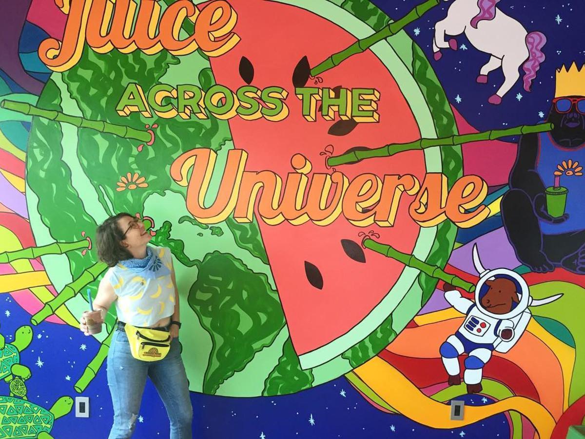 Emily Mente Juiceland mural