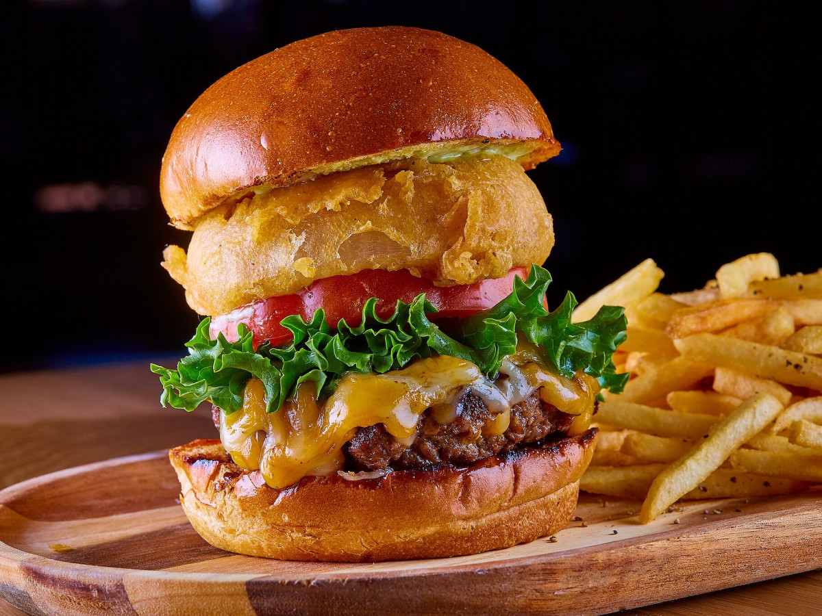 Chimichurri cheeseburger at Sidecar Social in Addison