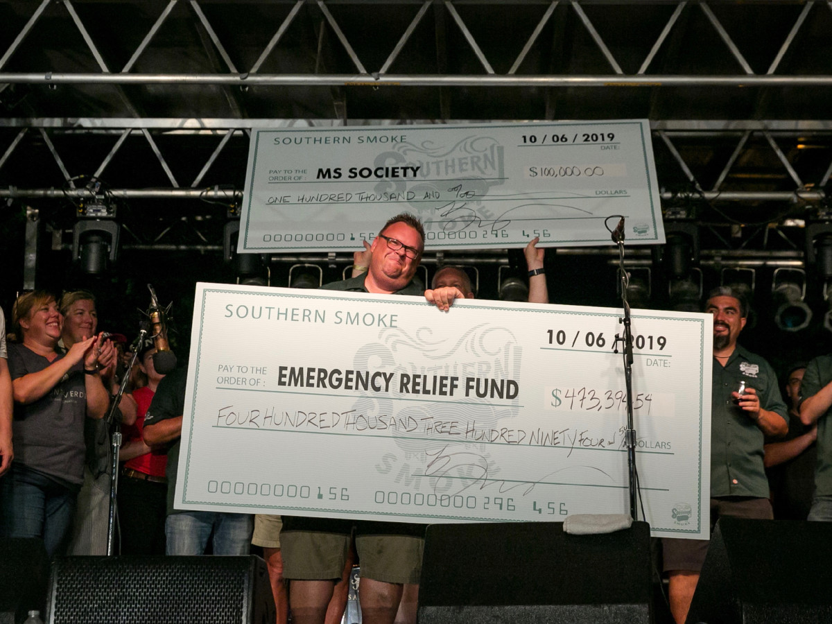 Southern Smoke 2019 Chris Shepherd check presentation