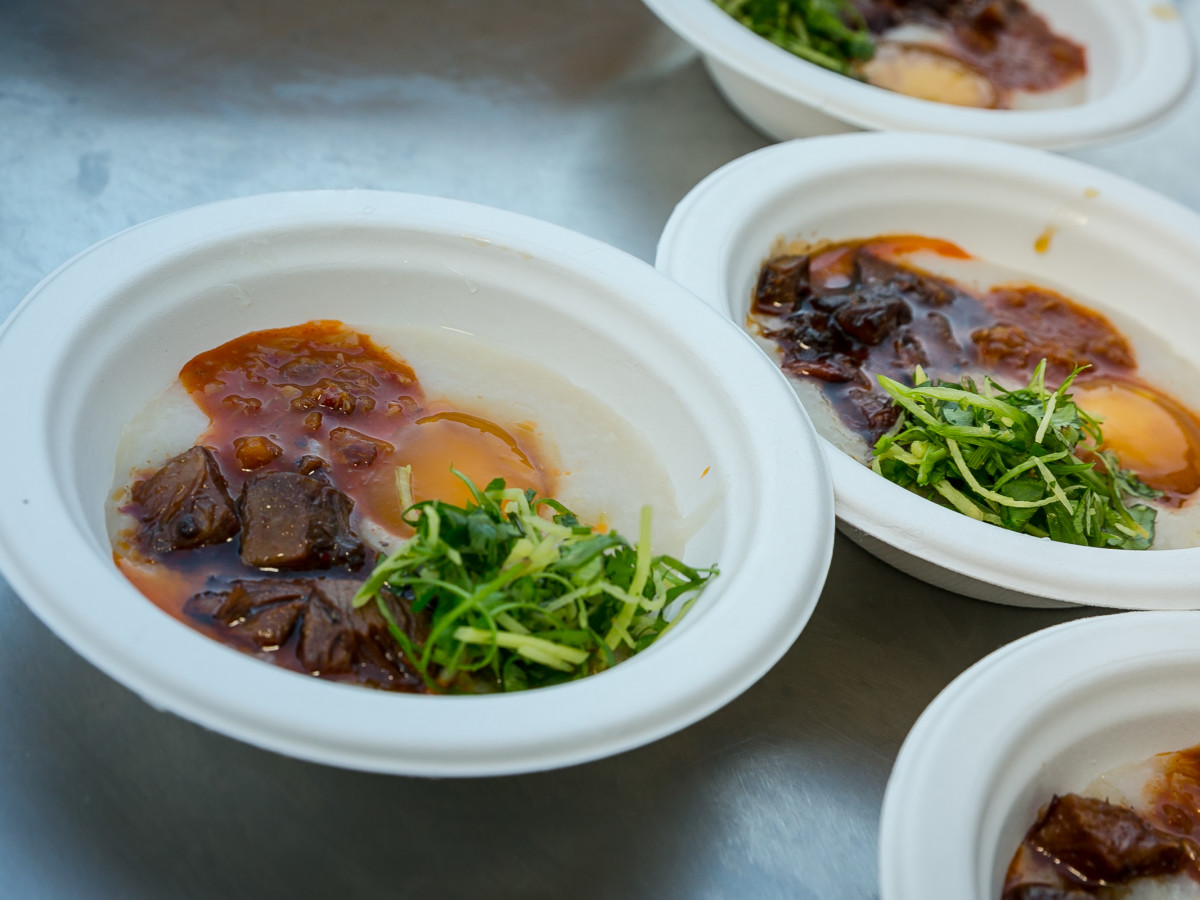 Southern Smoke 2018 Matty Matheson smoked beef congee