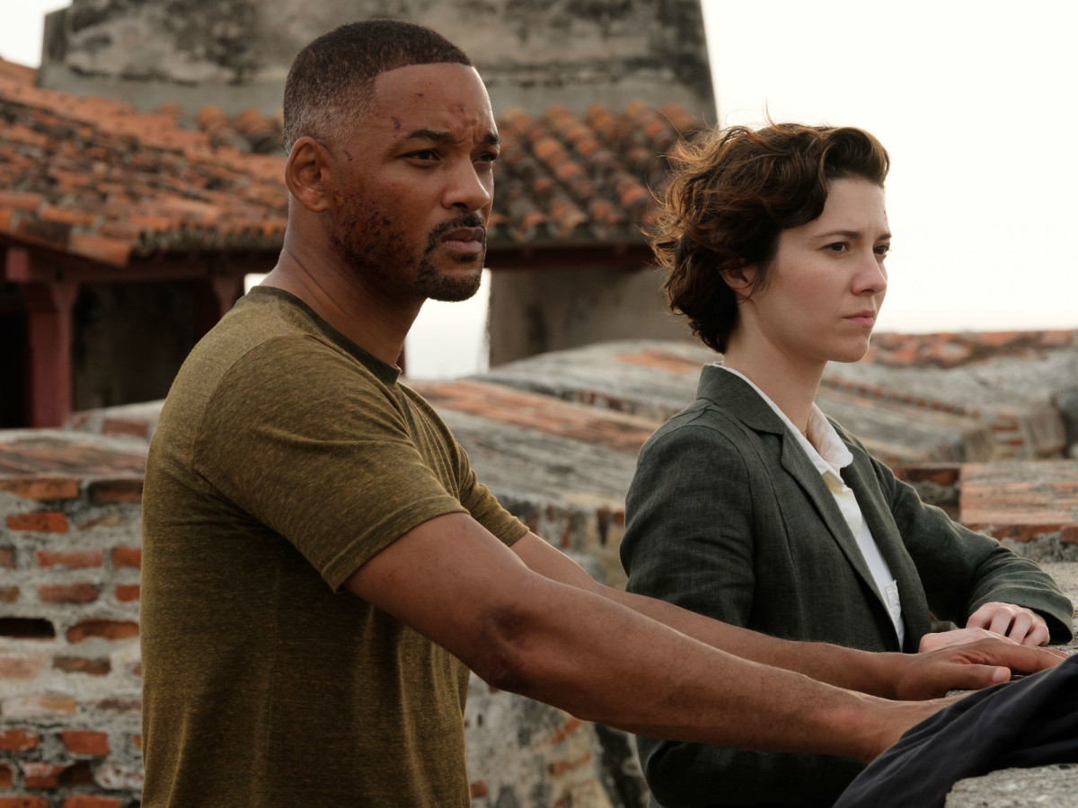 Will Smith and Mary Elizabeth Winstead in Gemini Man