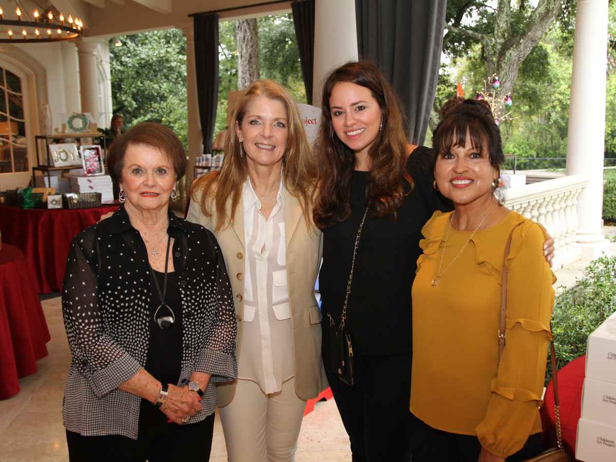 Paige Fertitta Children's Art Project trunk show MD Anderson Joy Fertitta, Paige Fertitta, Chrisleigh Paige Pentecost, Sandy Oropeza