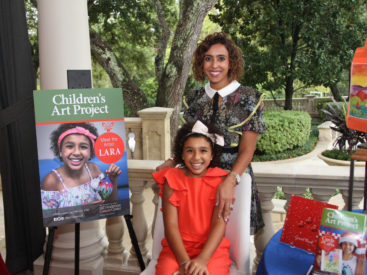 Paige Fertitta Children's Art Project trunk show MD Anderson Cancer survivor Lara Amer and Mom Mai Randaman