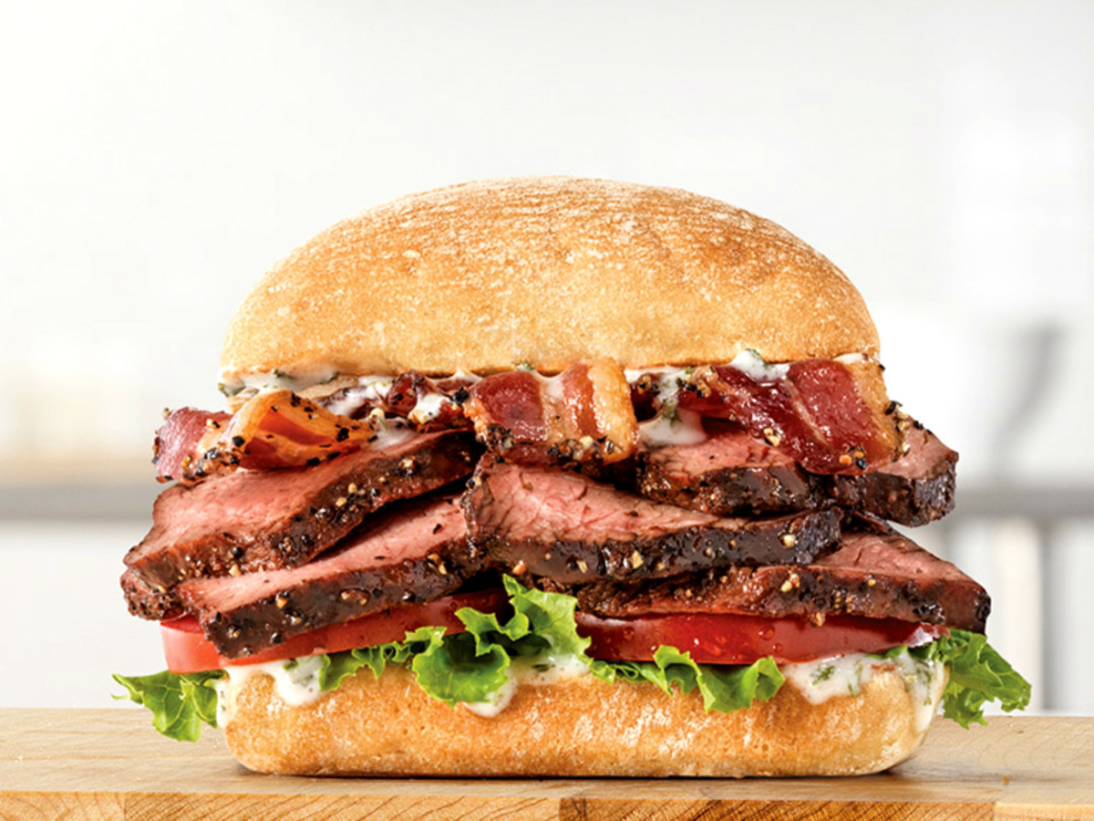 Arby's Garlic Butter Steak Sandwich