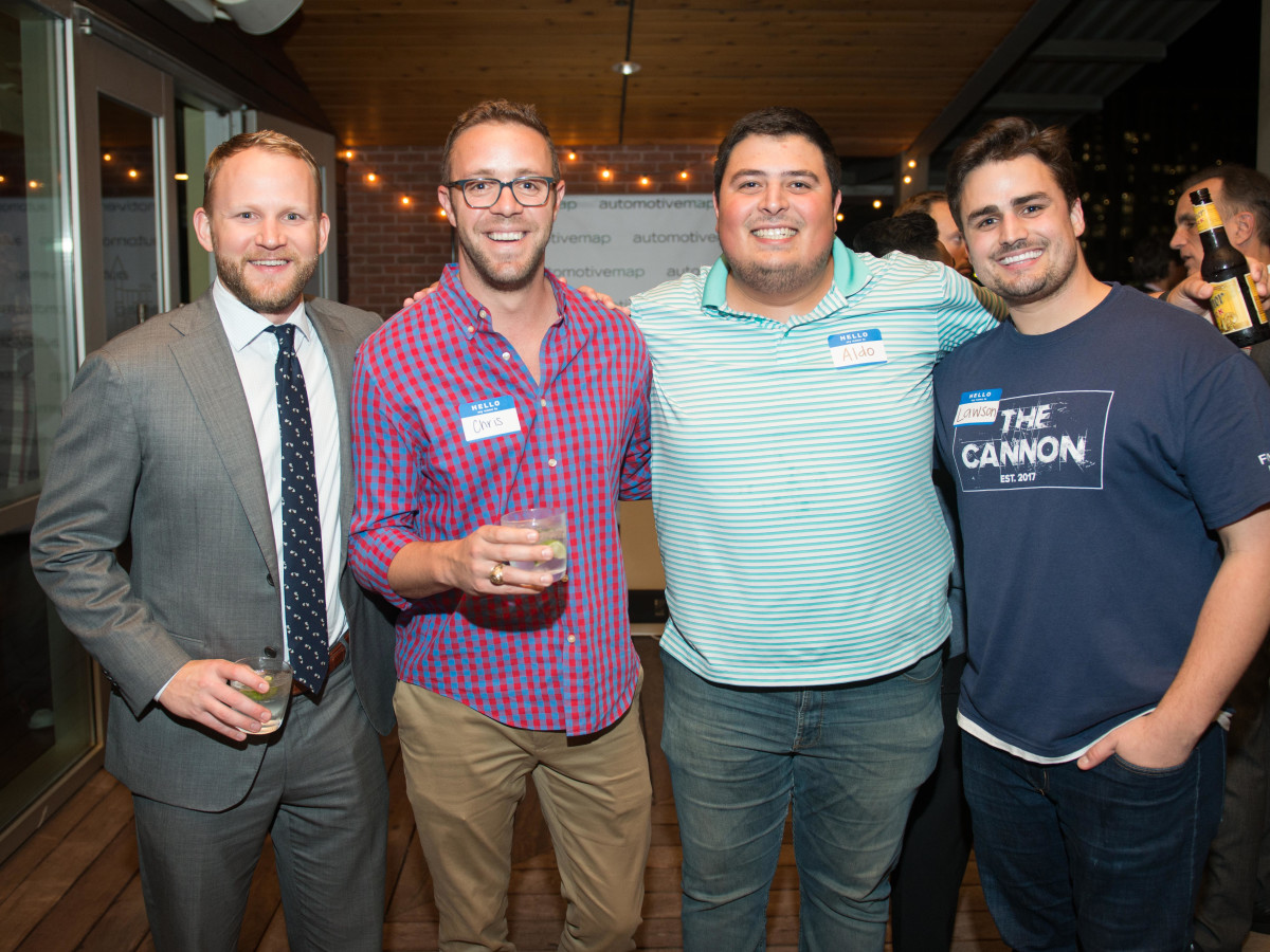 Automotive Map launch party 2019 Will McCallum, Chris Buckner, Aldo Ortiz, Lawson Gow