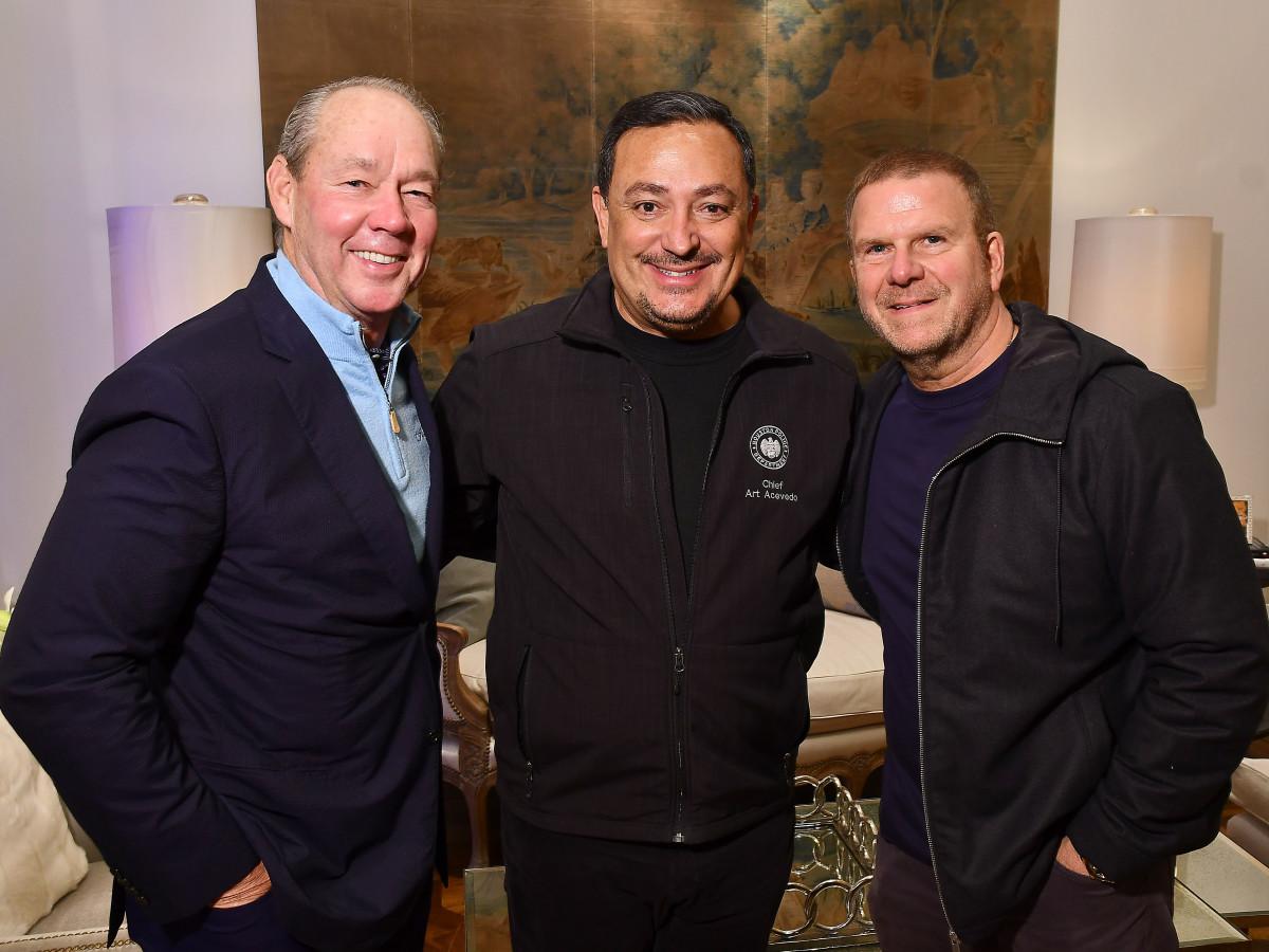 True Blue Gala 2019 Jim Crane, Houston Police Chief Art Acevedo, and Tilman Fertitta
