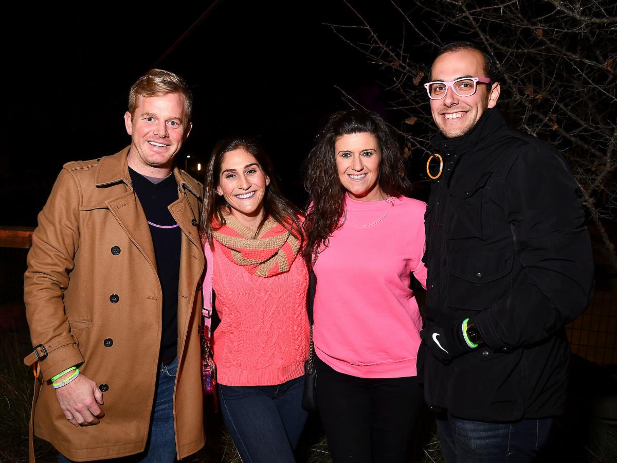 Urban Wild Bridge bash Scott Yoder, Lauren Benjamin, Hilary Holcolmb and Nathan Montanez
