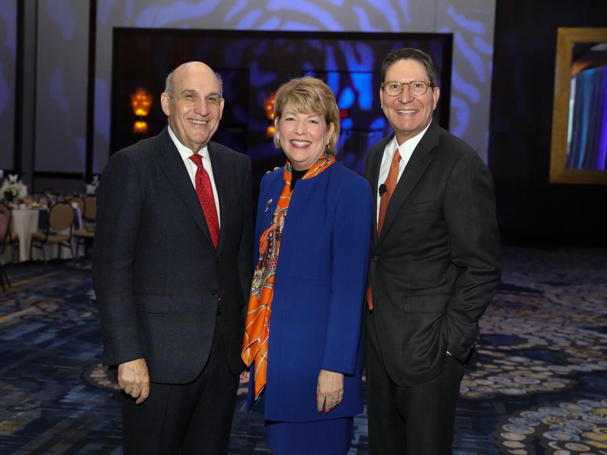 Holocaust Museum Houston Astros Foundation Human Spirit Award HMH Chair Benjamin Warren, HMH CEO Dr. Kelly J. Zúñiga, H-E-B President Scott McClelland
