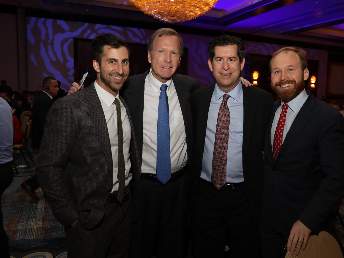 Holocaust Museum of Houston Astros Foundation Human Spirit Award Jay Zeidman, Neil Bush, Rabbi Brian Strauss, Pierce Bush