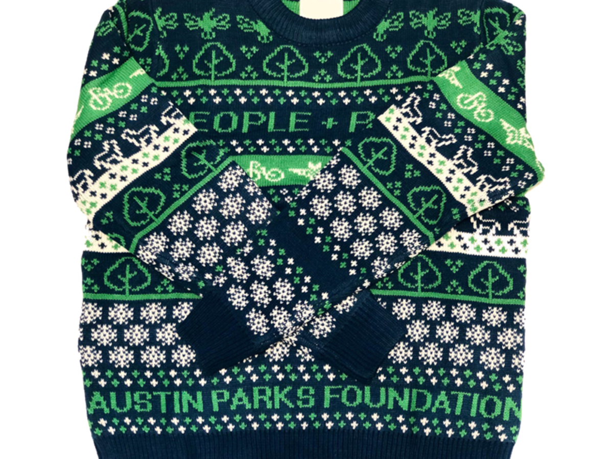 Austin Parks Foundation ugly sweater