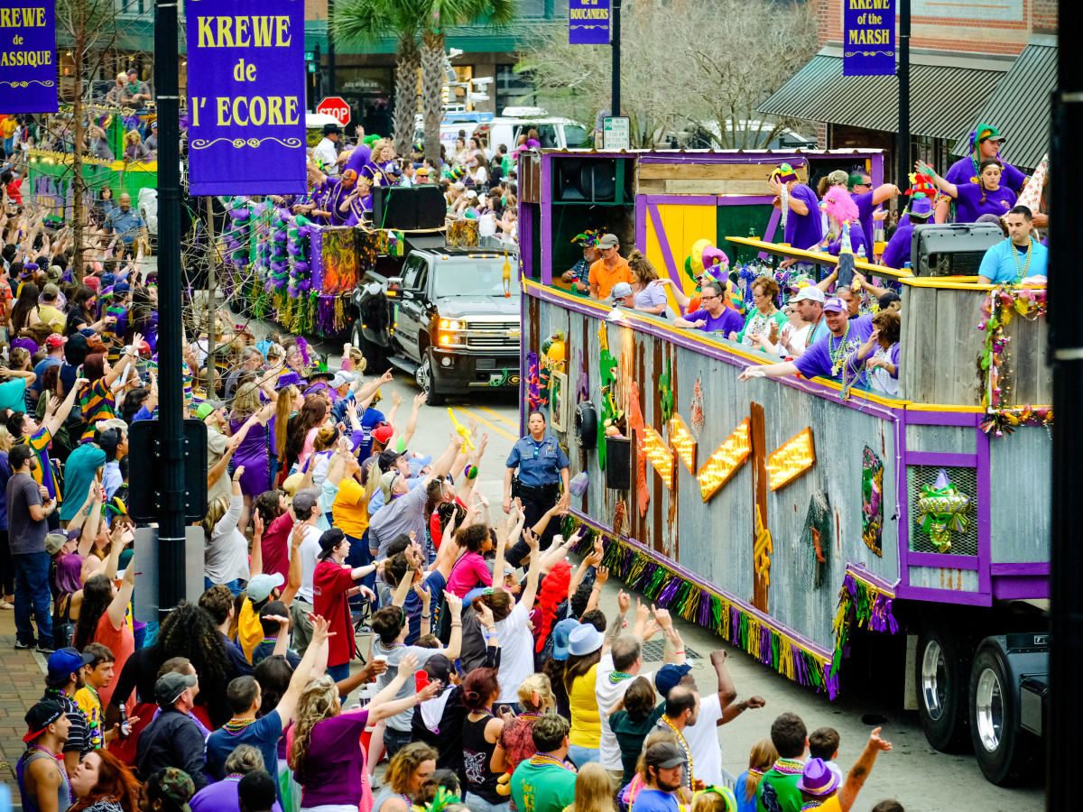 Krewe of Krewe parade in Lake Charles