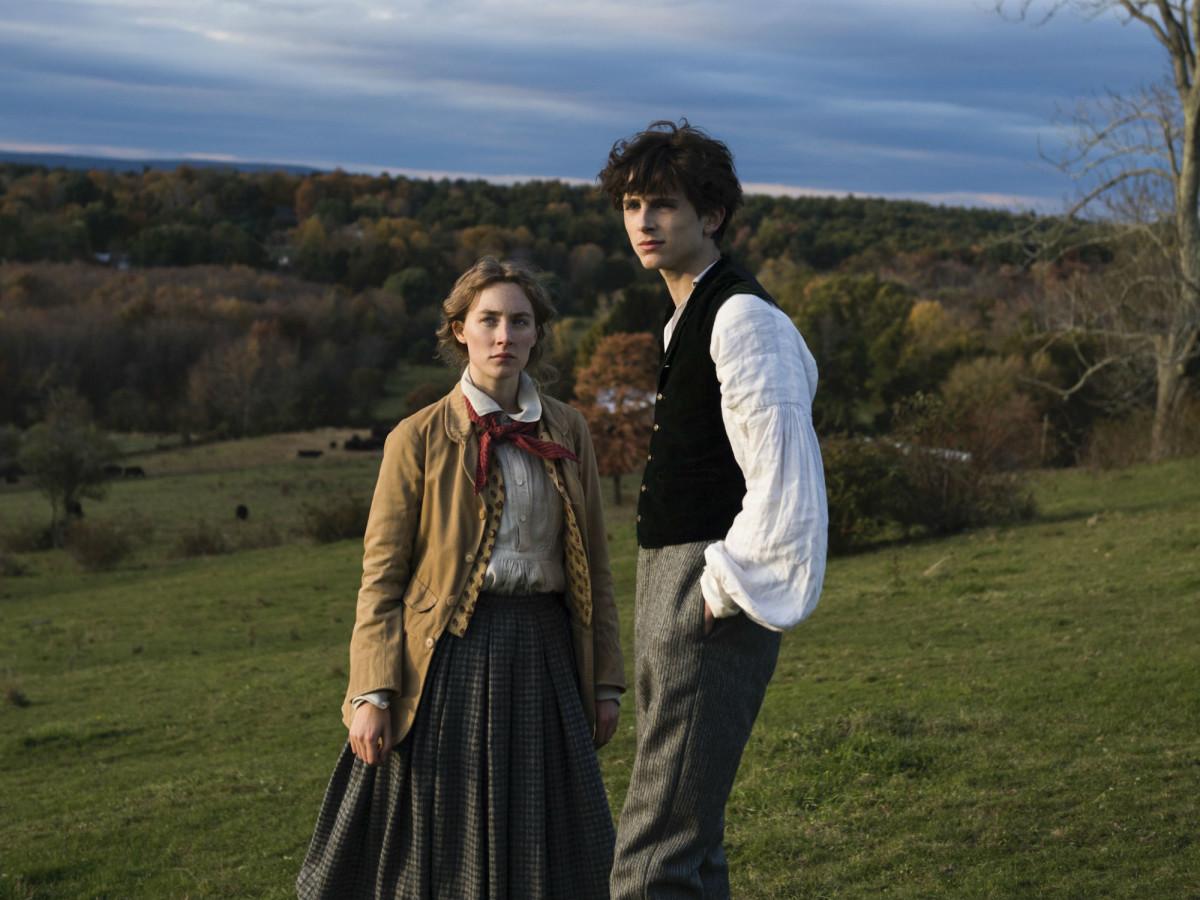 Saoirse Ronan and Timothée Chalamet in Little Women