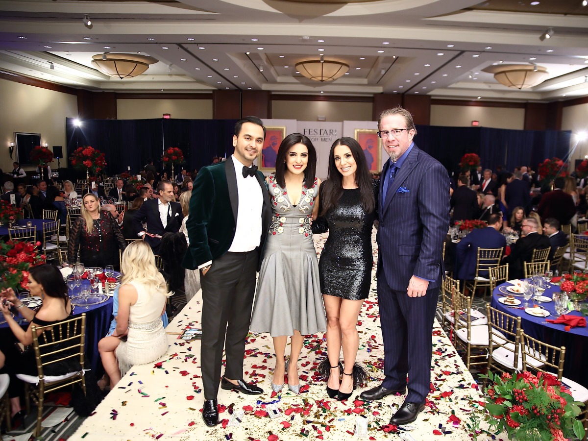 Una Notte 2019 Nick and Sneha Merchant and Rachel and Jeff Bagwell