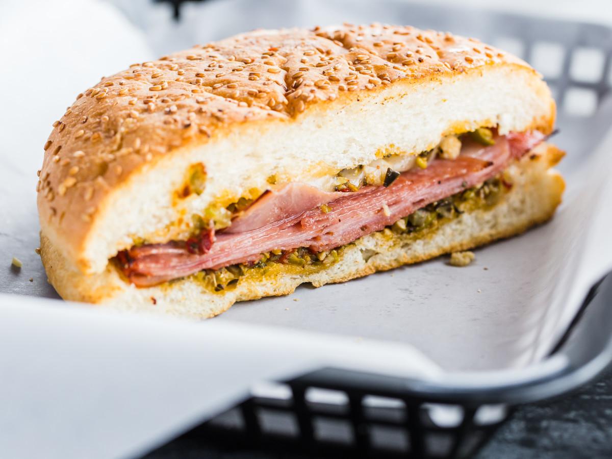 Antone's muffuletta sandwich