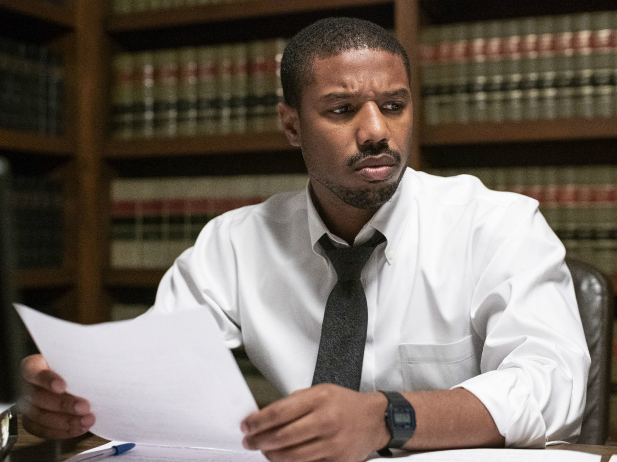 Michael B. Jordan in Just Mercy