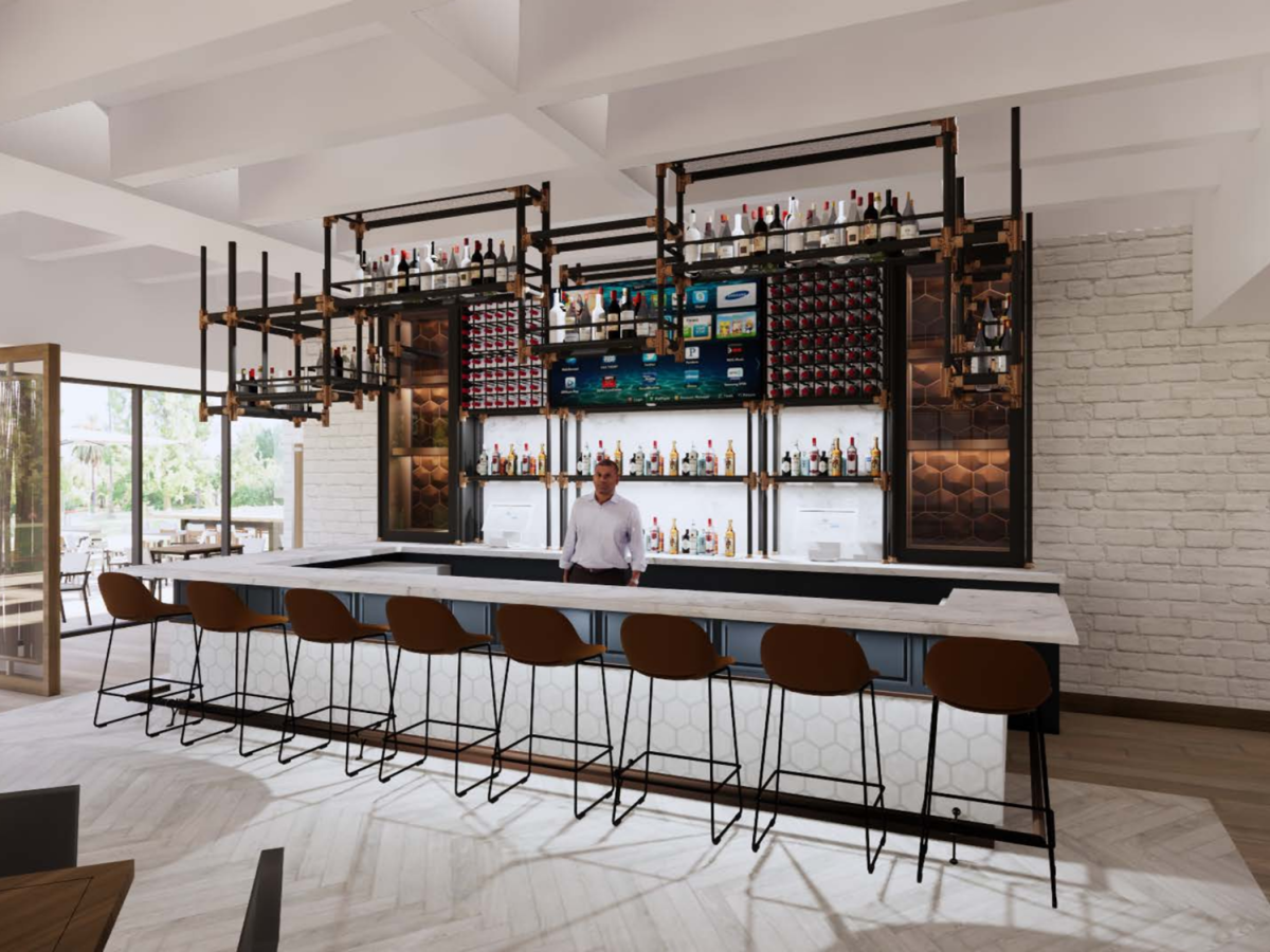 The new Houstonian Club bar