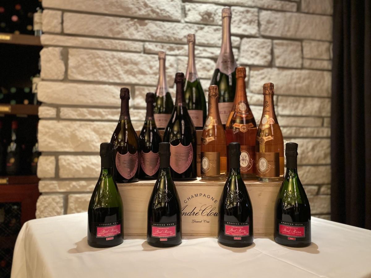 Pappas Bros. Rose champagne dinner