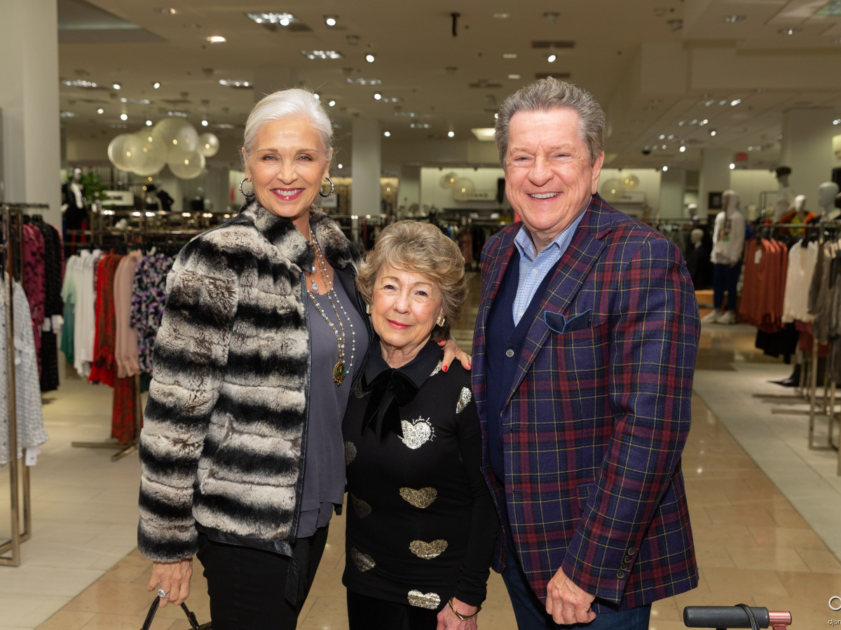 Social Book Neiman Marcus Page Parkes anniversary 2020 Karen Henry, Fran Fauntleroy and Bill Stubbs