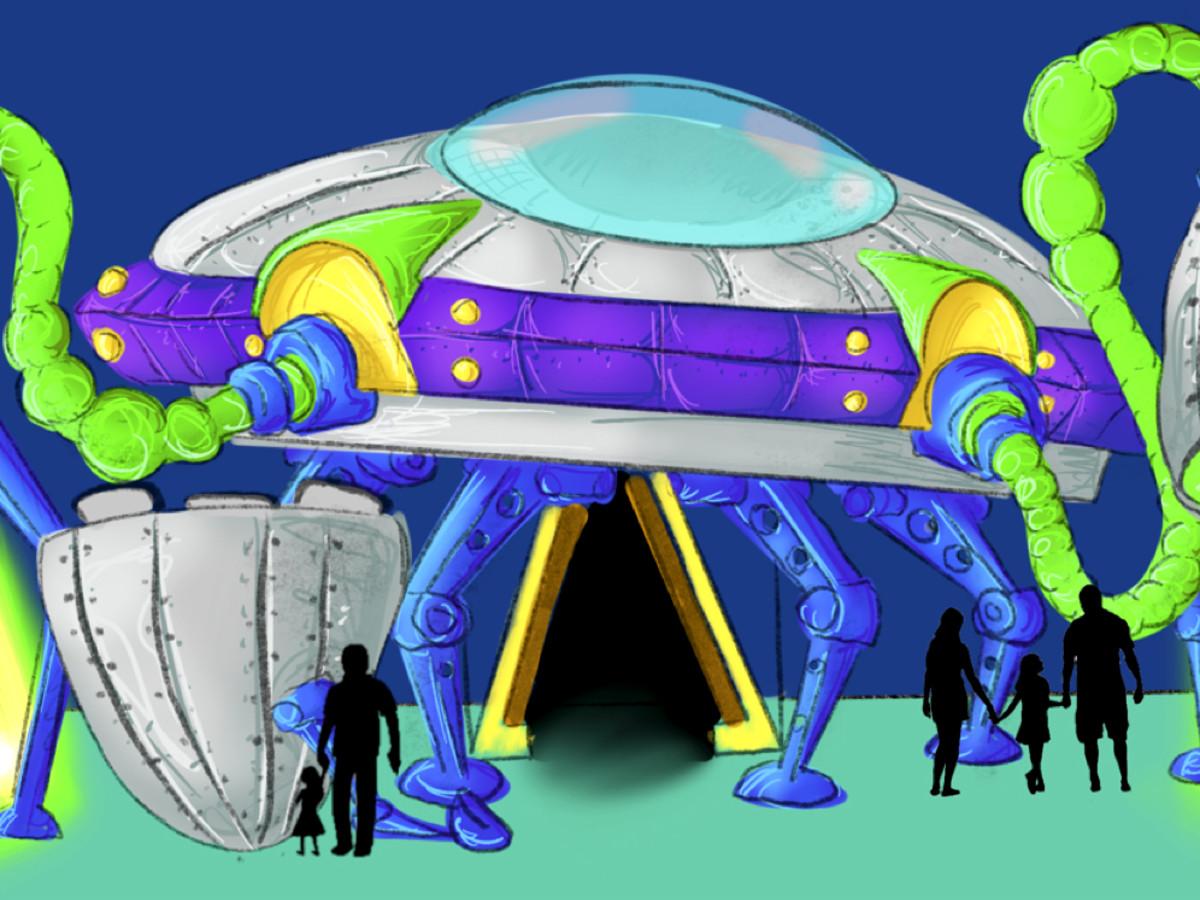 Seismique spaceship rendering