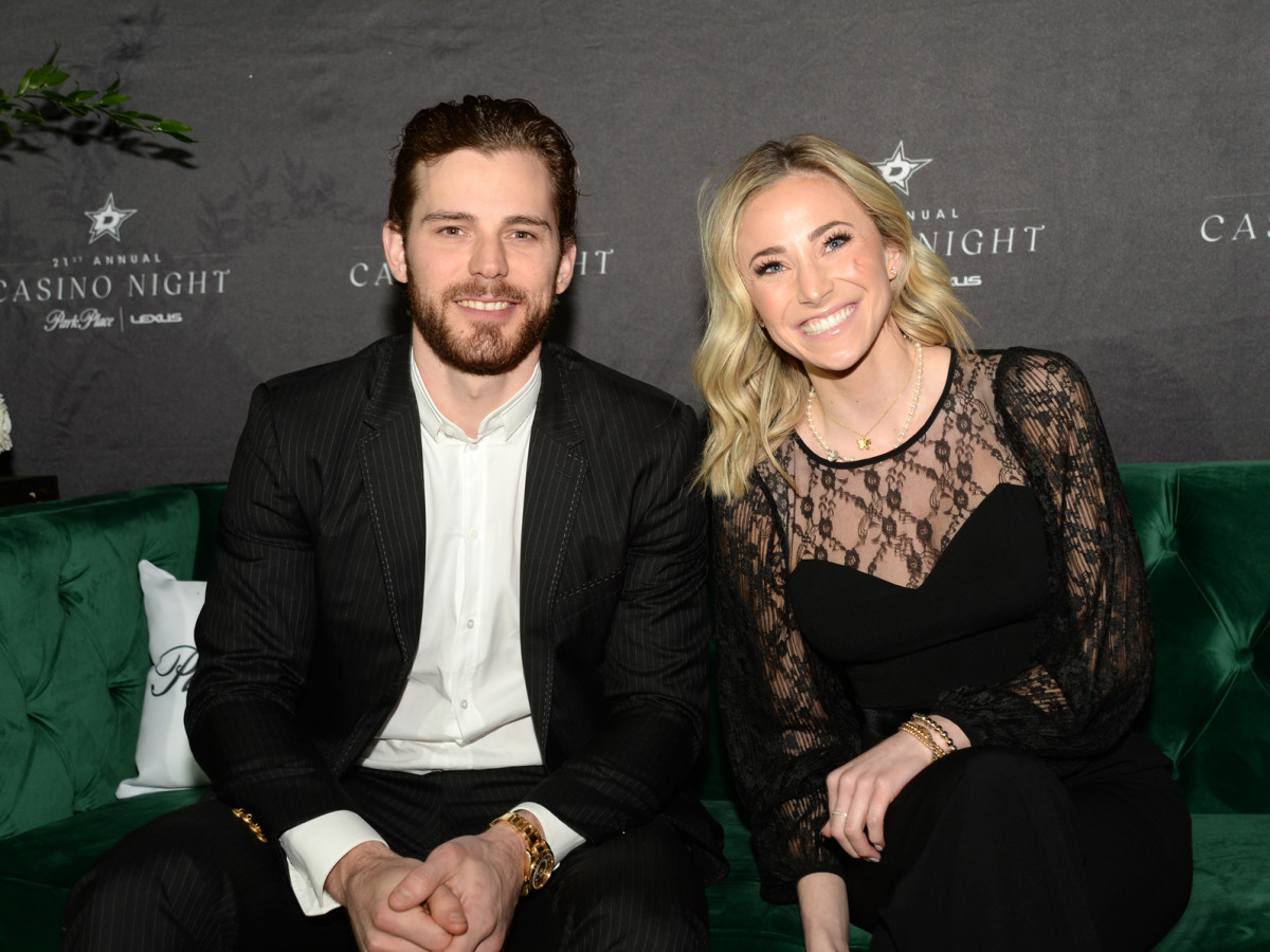 Dallas Stars player Tyler Seguin with Peyton Mabry