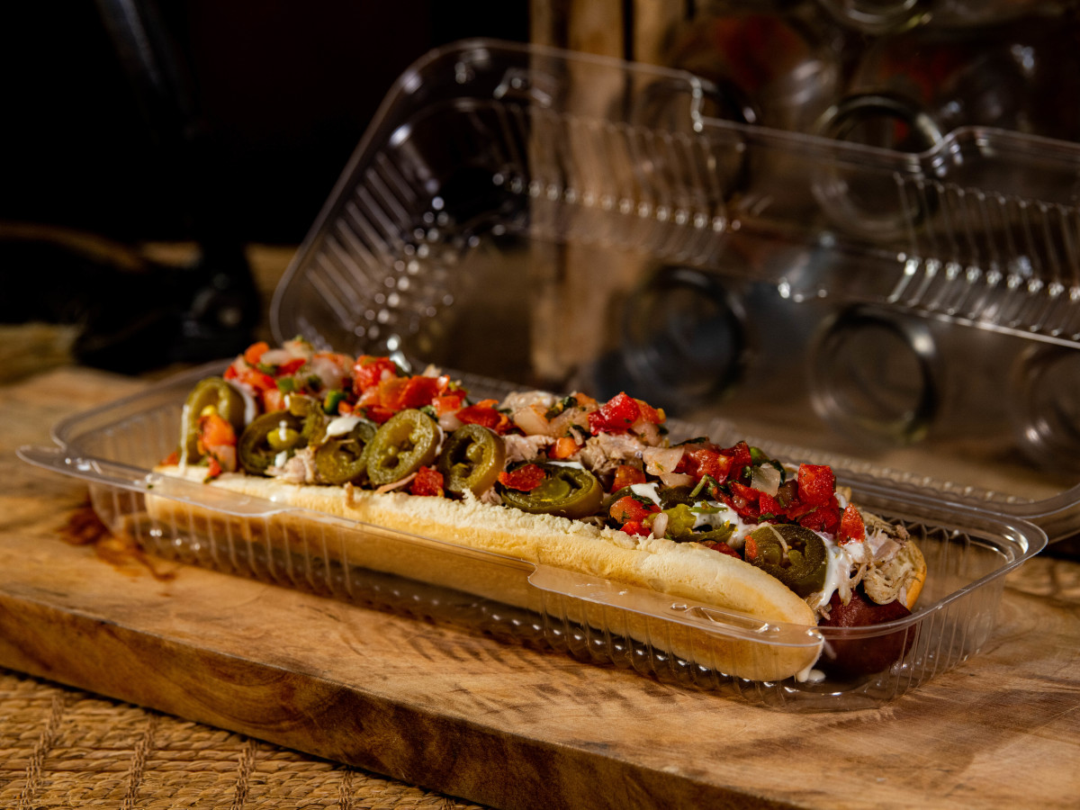 Houston Astros Minute Maid Park stadium food menu El Mariachi Footlong Hot Dog