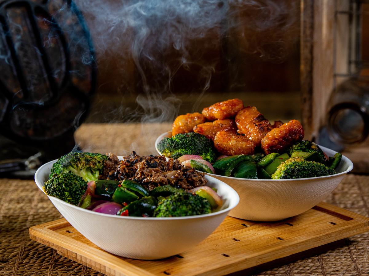 Houston Astros Minute Maid Park stadium food menu Mongolian Beef General Tso Chicken