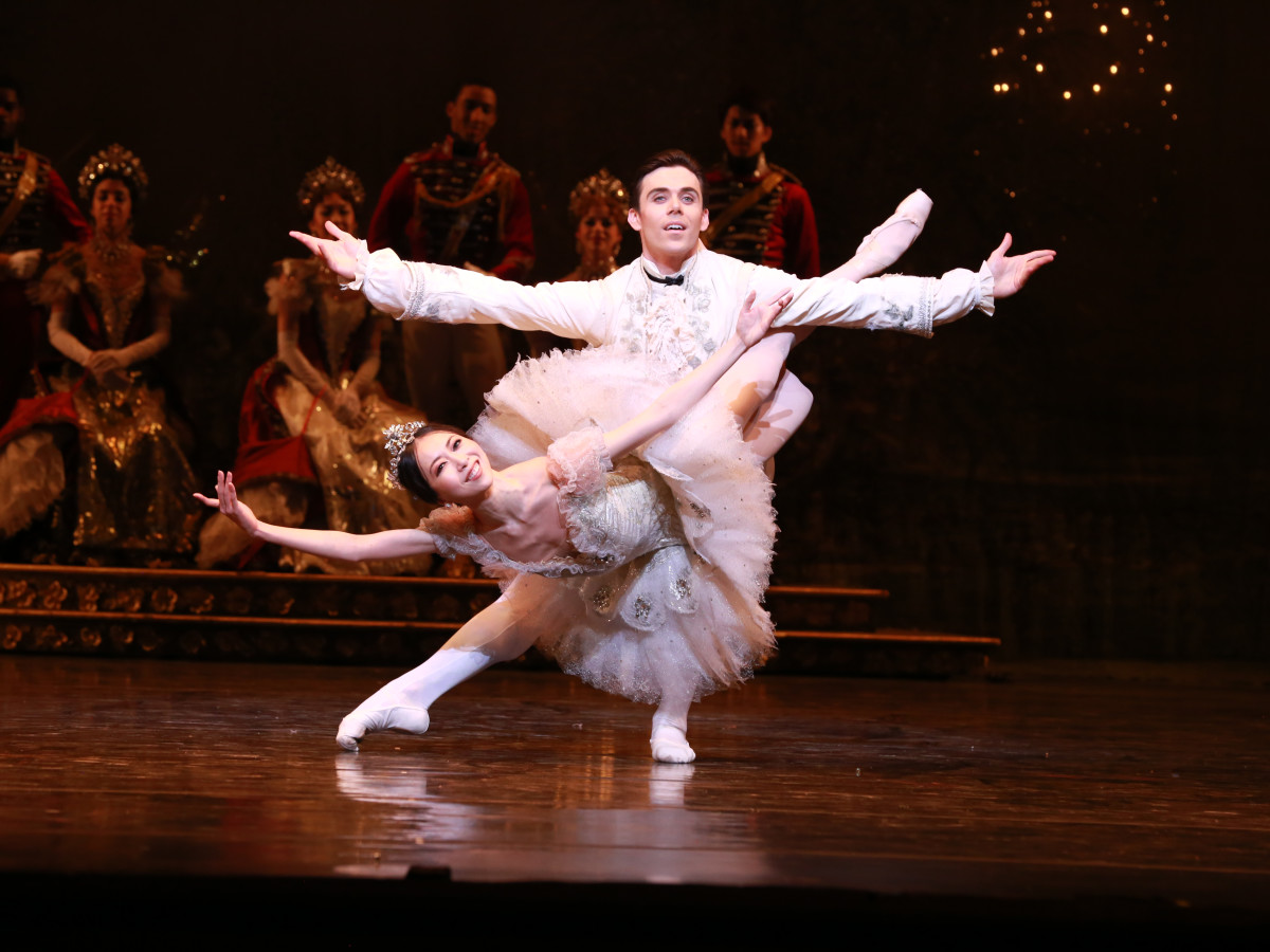 Houston Ballet principals Connor Walsh as Price Florimund and Yuriko Kajiya as Princess Aurora in Ben Stevenson's The Sleeping Beauty