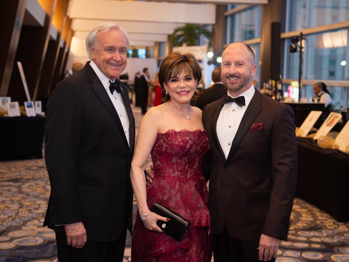 Heart Ball 2020 Bill King, Hallie Vanderhider, and Tony Bradshaw
