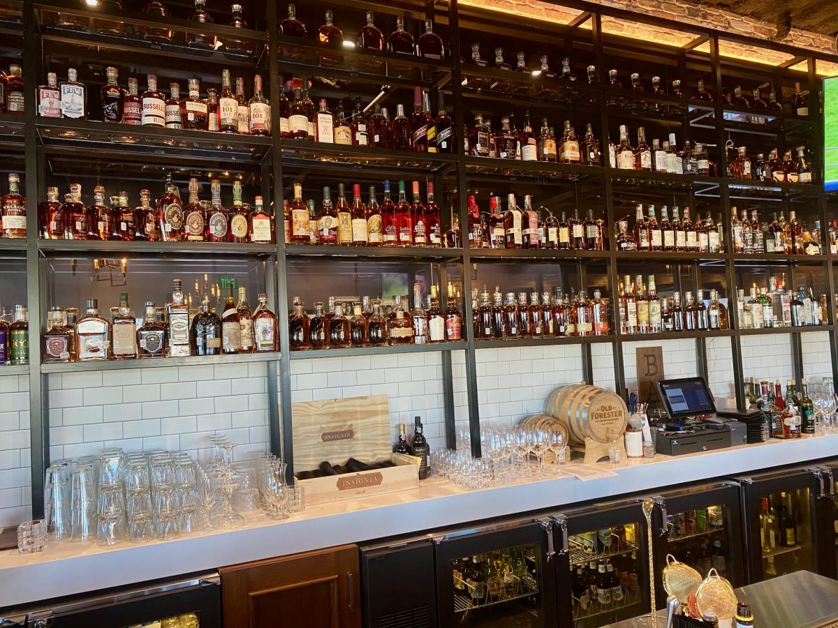 Federal Grill Hedwig Village bar interior