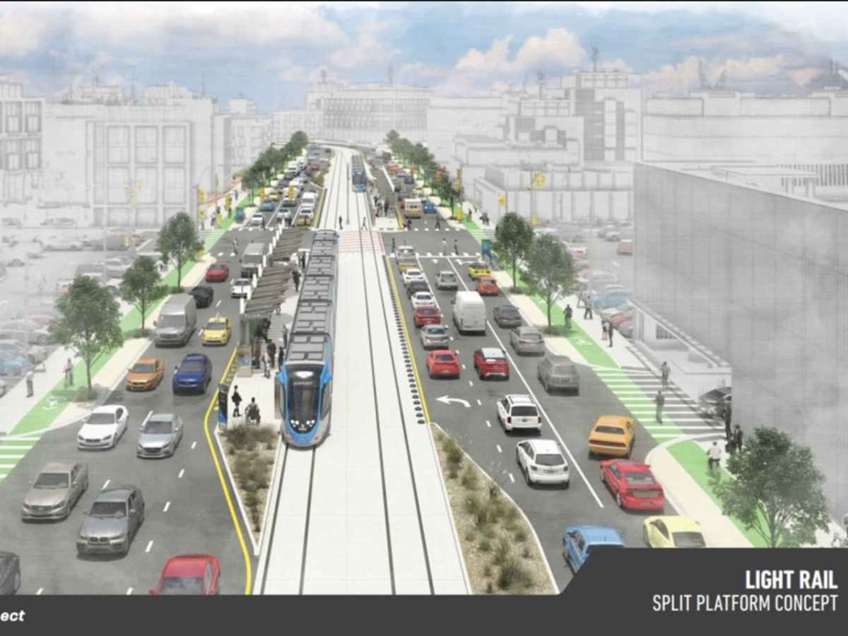 Project connect light rail rendering