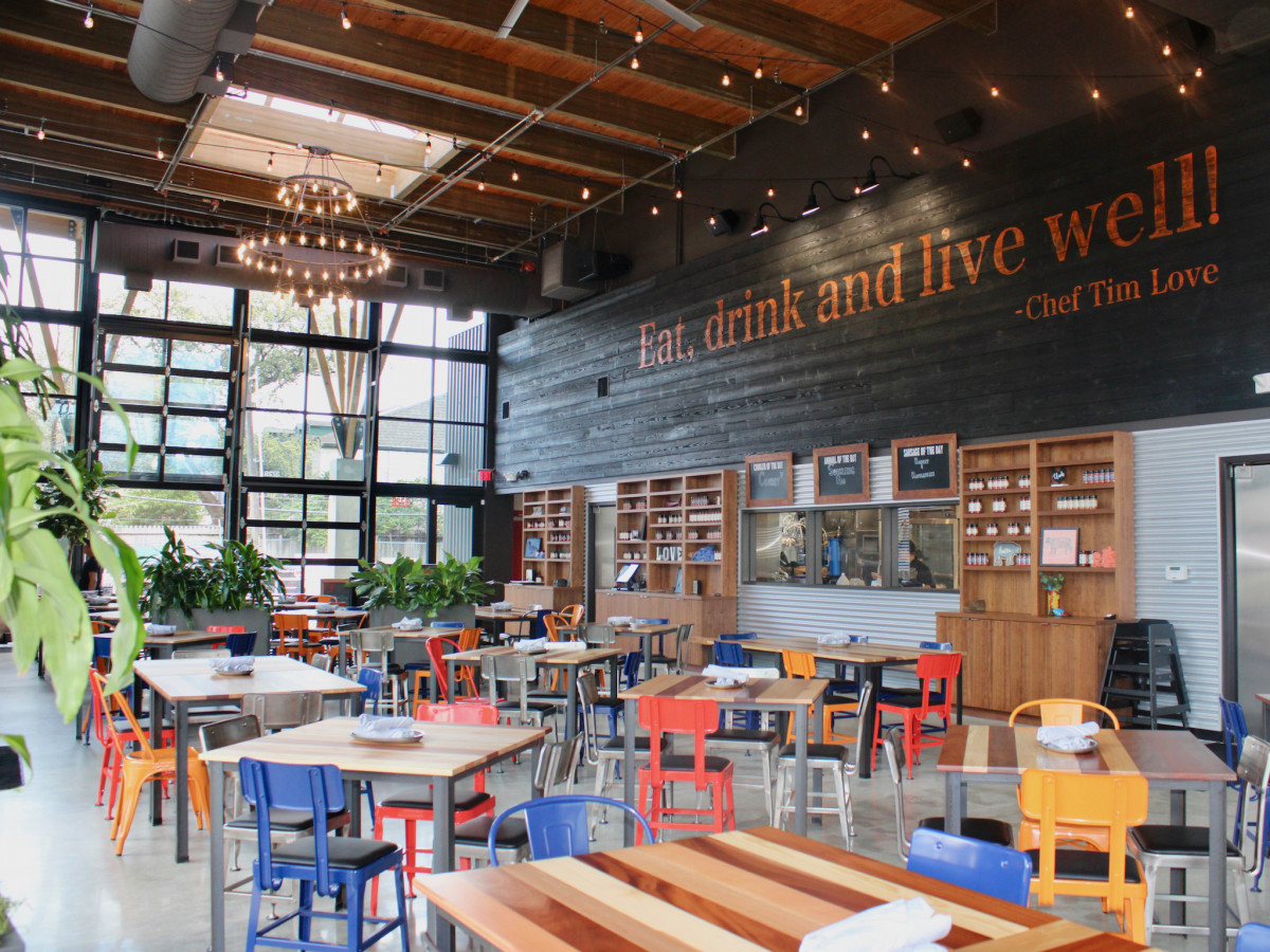 Woodshed Smokehouse Levy Park Tim Love interior