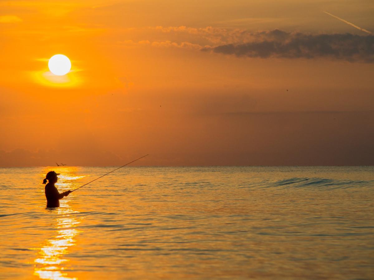 Galveston Island State Park - sunset