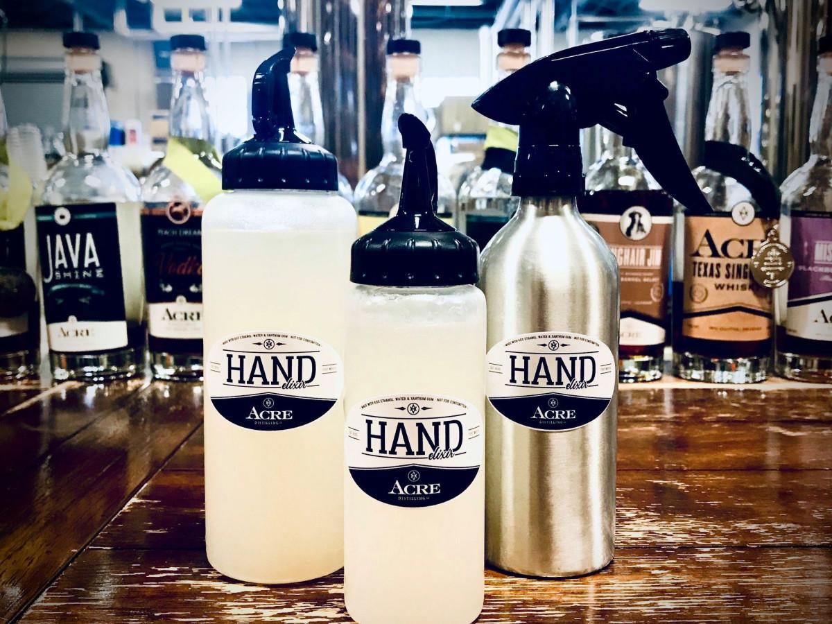 Acre Distilling hand sanitizer
