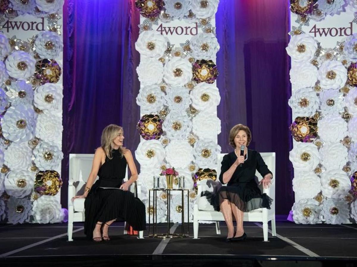 Charity Wallace and Laura Bush