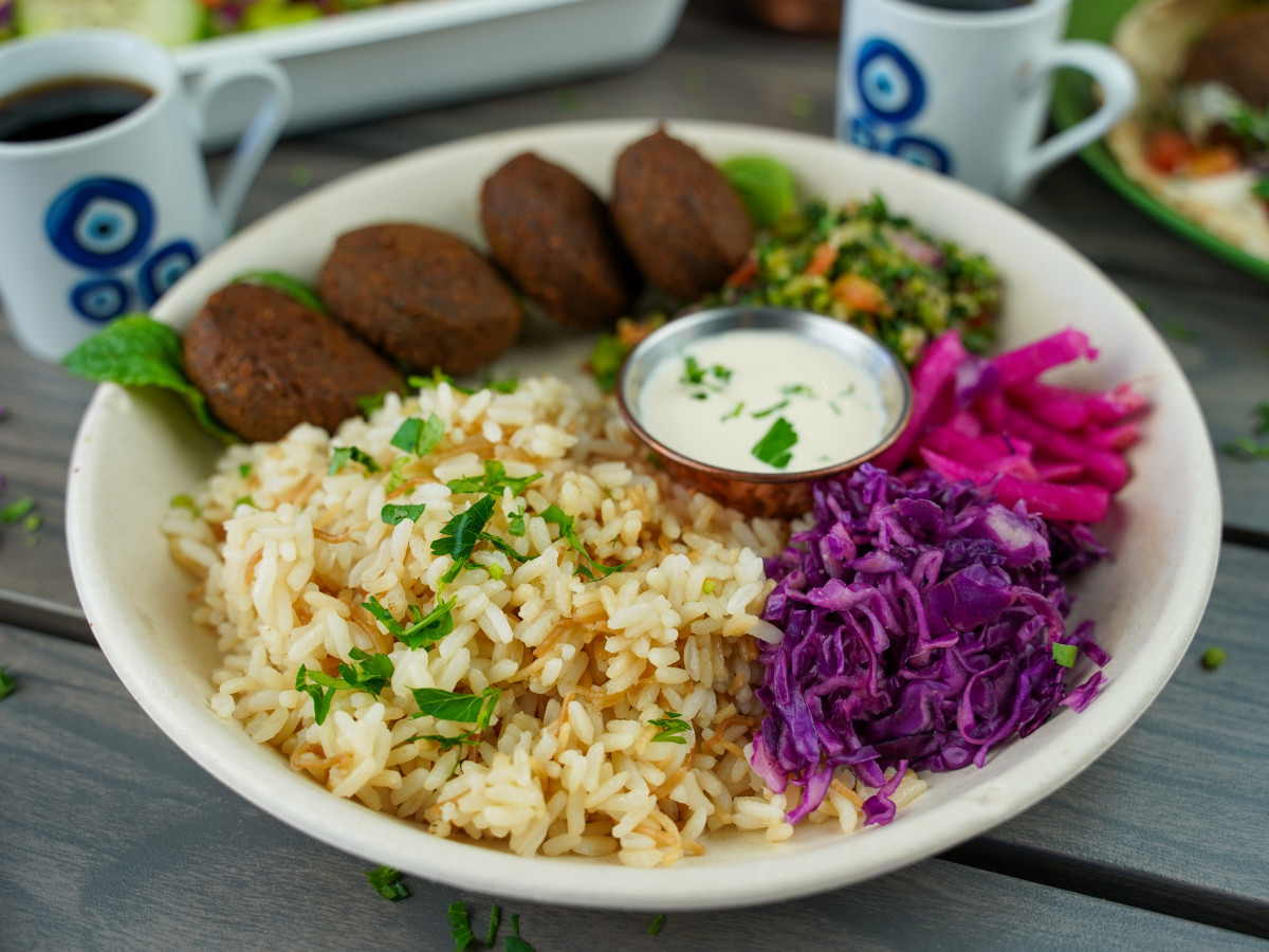 Craft Pita falafel rice bowl