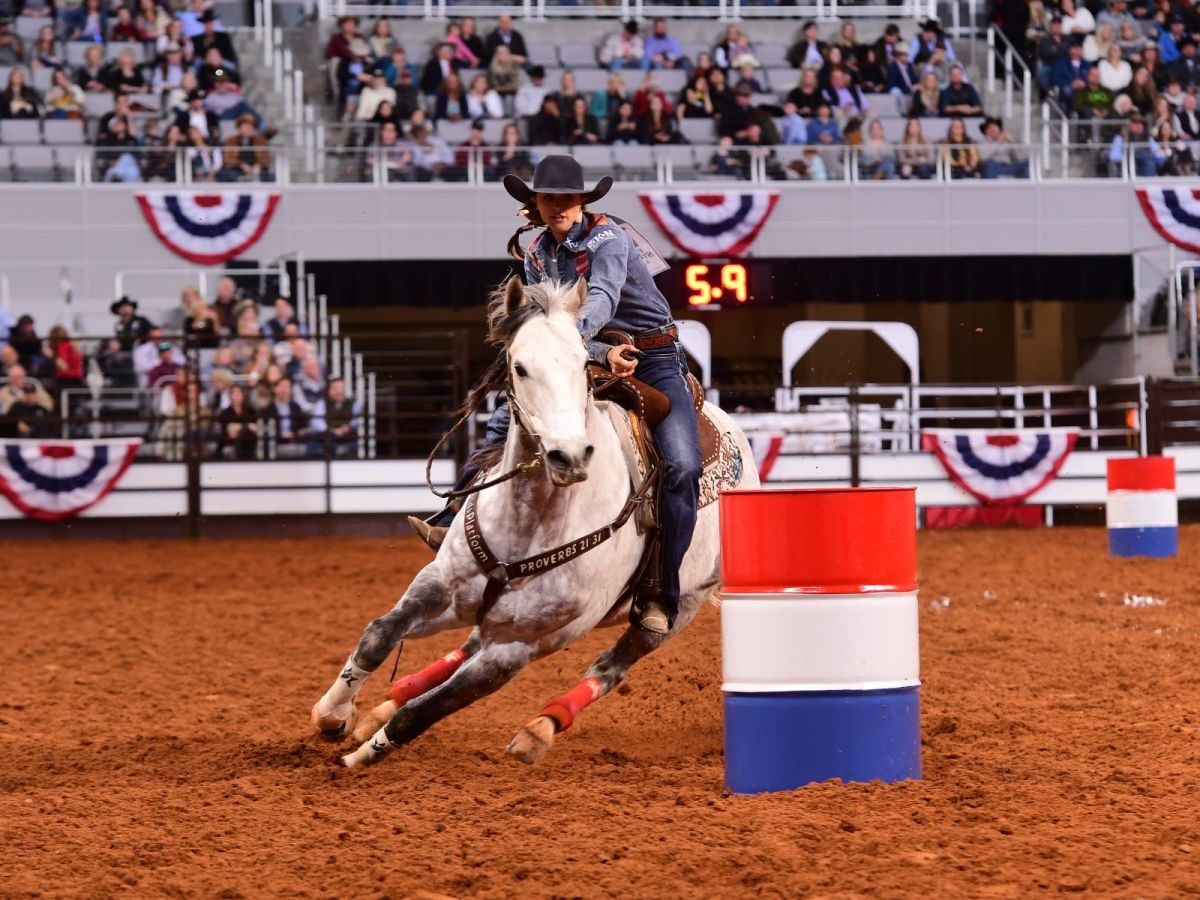 Fort Worth Stock Show & Rodeo 2020, Dickies Arena, barrel racing