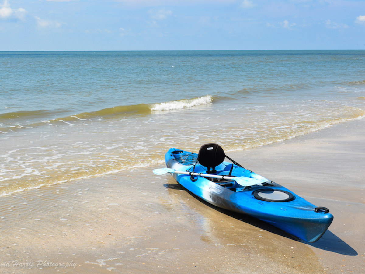 Bolivar Peninsula beach kayak
