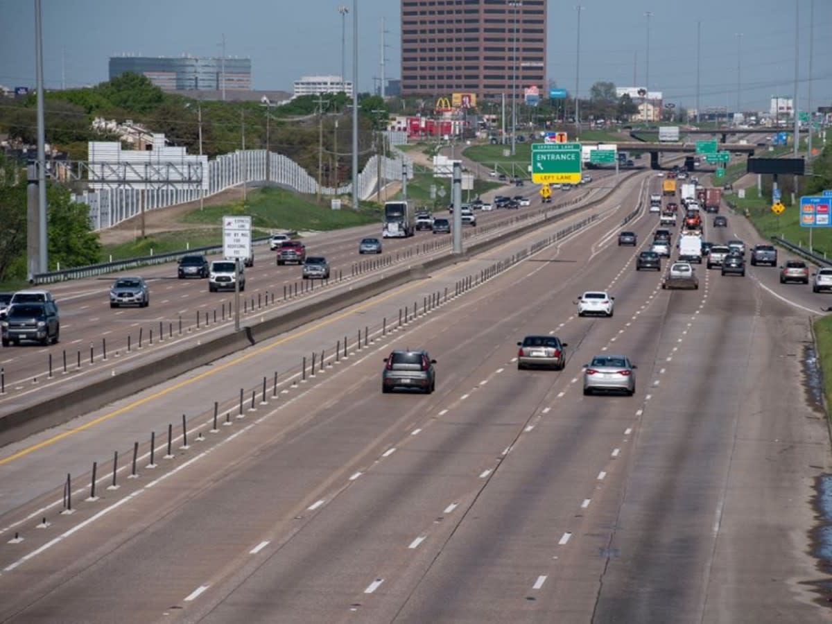 Stretch of I-635 east of US 75 as of April 2020