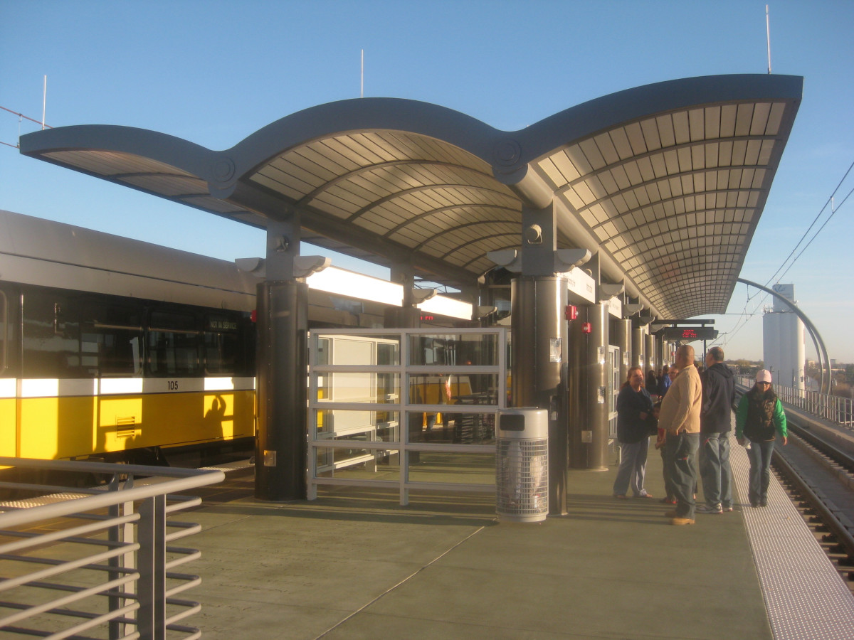 Downtown Carrollton DART rail train station