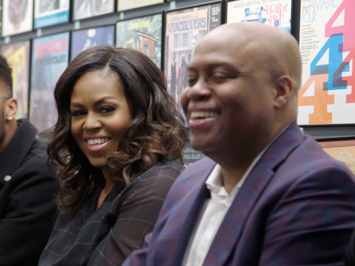 Michelle Obama and Craig Robinson in Becoming