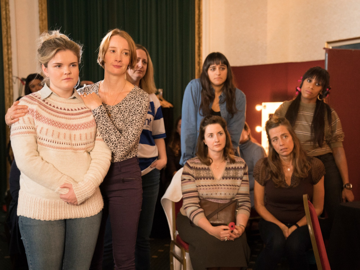 Gaby French, Emma Lowndes, Laura Checkley, Annie Faridany, Lara Rossi, Sophie Dix, and Beverley Longhurst in Military Wives