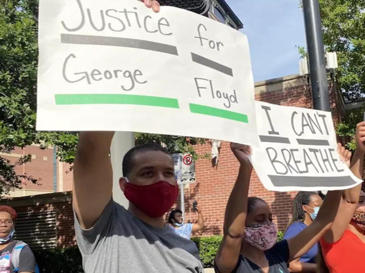 George Floyd protesters