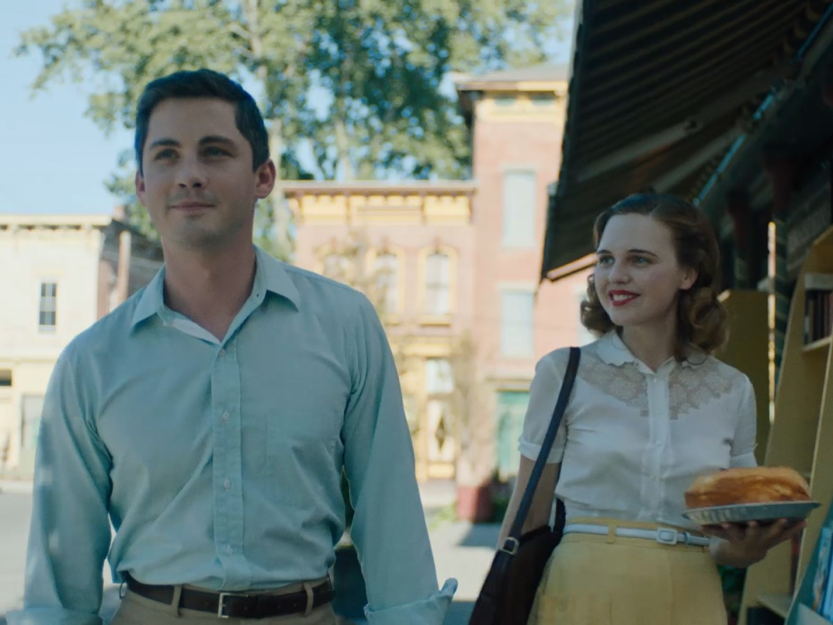 Logan Lerman and Odessa Young in Shirley