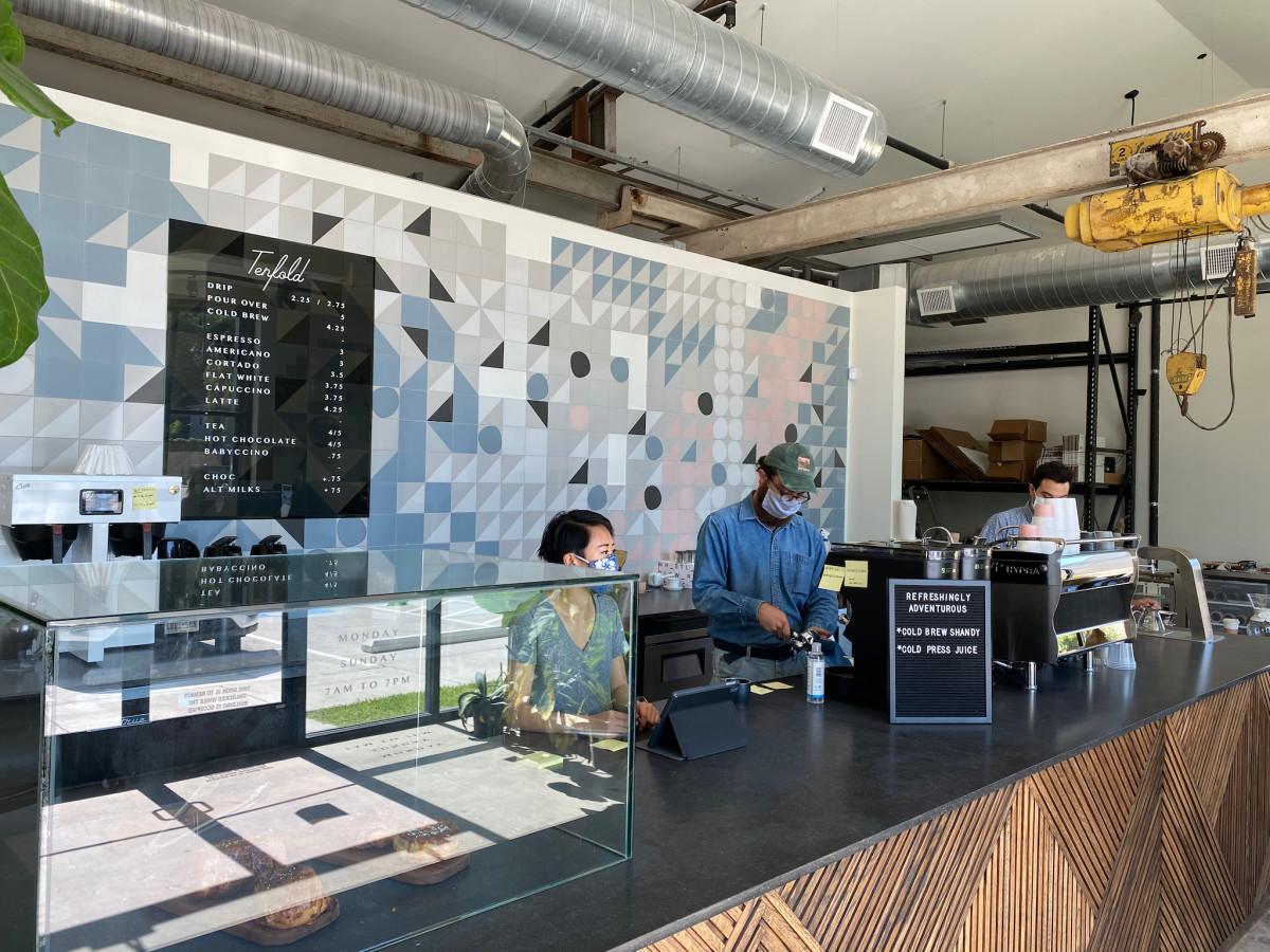 Tenfold Coffee counter
