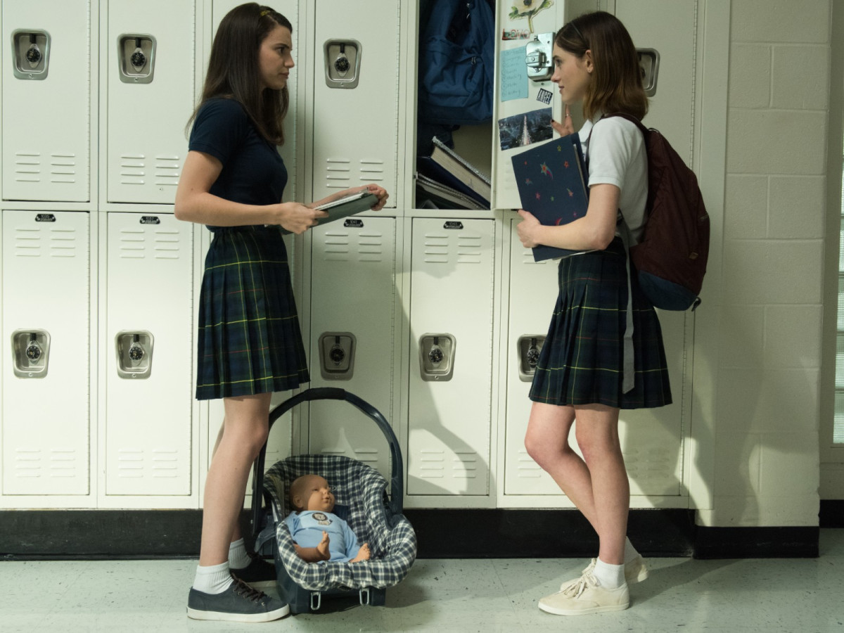 Francesca Reale and Natalia Dyer in Yes, God, Yes