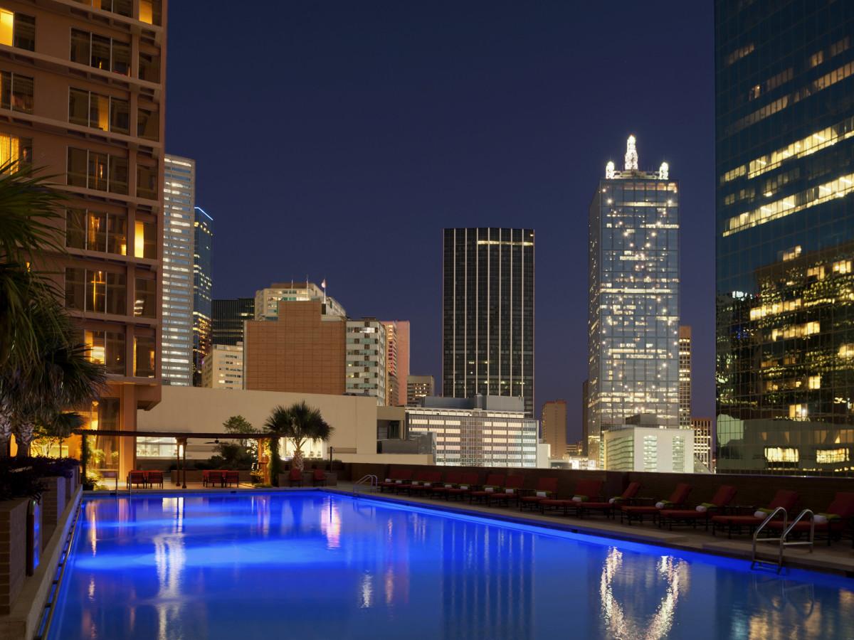 the fairmont, dallas, pool, hotel