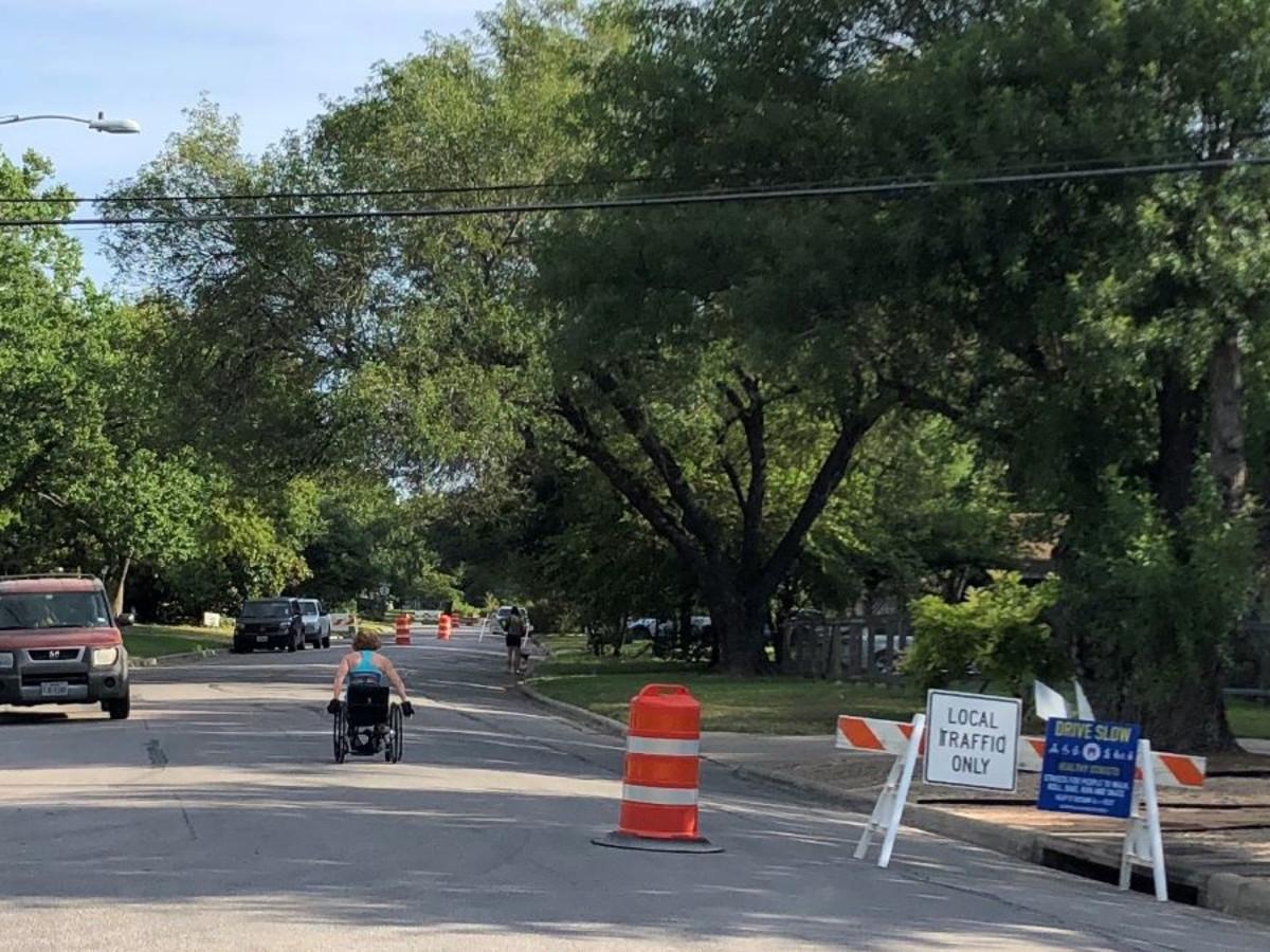 Austin healthy streets man in wheelchair