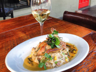 Grayze San Antonio restaurant roasted chicken wine dish food pairing